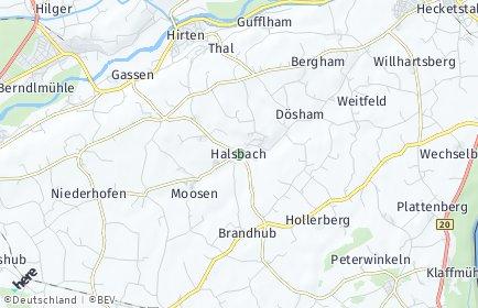 Stadtplan Halsbach