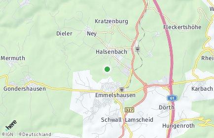 Stadtplan Halsenbach