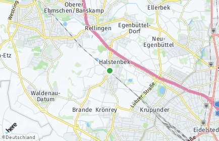 Stadtplan Halstenbek