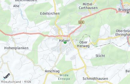 Stadtplan Halver