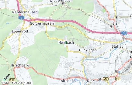 Stadtplan Hambach bei Diez