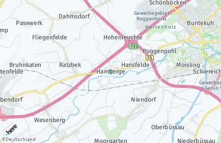 Stadtplan Hamberge