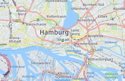 Stadtplan Hamburg-Mitte OT Hamm