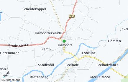 Stadtplan Hamdorf