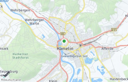 Stadtplan Hameln