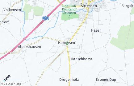 Stadtplan Hamersen
