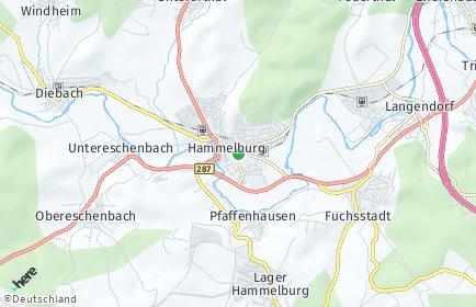 Stadtplan Hammelburg
