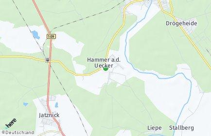 Stadtplan Hammer an der Uecker