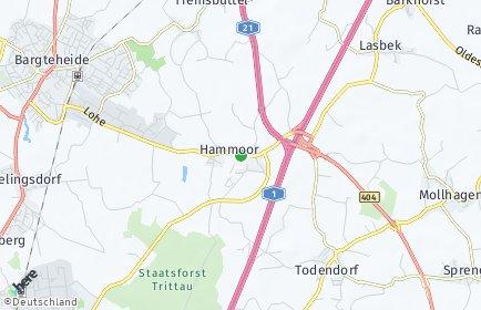 Stadtplan Hammoor