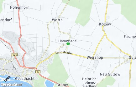Stadtplan Hamwarde