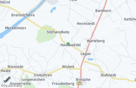 Stadtplan Hamweddel