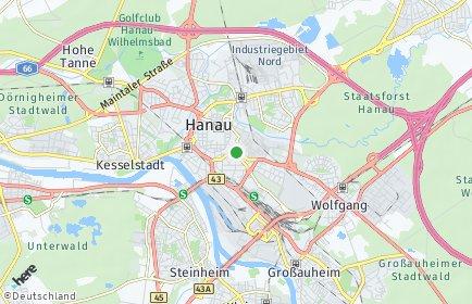 Stadtplan Hanau
