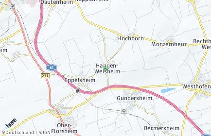 Stadtplan Hangen-Weisheim