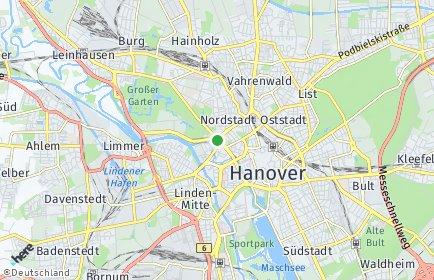 Plz Hannover Mit Karte Postleitzahlen 30159 30669 Niedersachsen