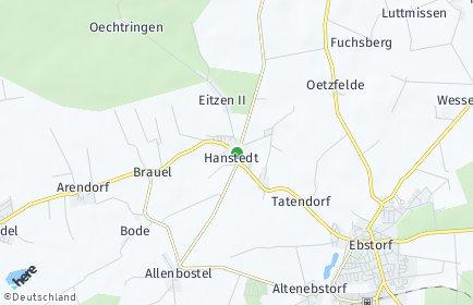 Stadtplan Hanstedt (Landkreis Uelzen)