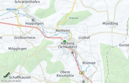 Stadtplan Harburg (Schwaben)