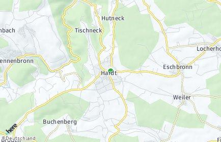 Stadtplan Hardt (Schwarzwald)