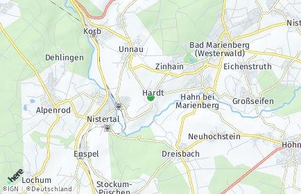 Stadtplan Hardt (Westerwald)