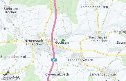 Stadtplan Hardthausen am Kocher