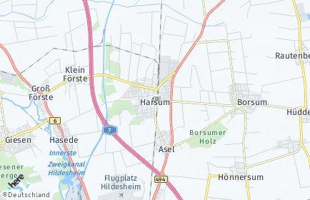 Stadtplan Harsum OT Harsum