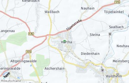 Stadtplan Hartha
