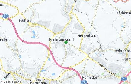 Stadtplan Hartmannsdorf bei Chemnitz