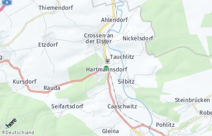 Stadtplan Hartmannsdorf bei Eisenberg