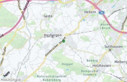 Stadtplan Hasbergen