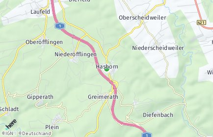Stadtplan Hasborn