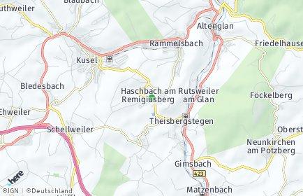 Stadtplan Haschbach am Remigiusberg