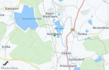Stadtplan Haselbach bei Altenburg