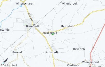 Stadtplan Hasenkrug bei Brokstedt