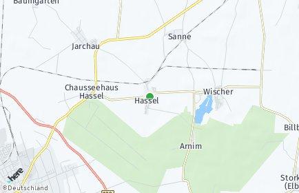 Stadtplan Hassel (Altmark)