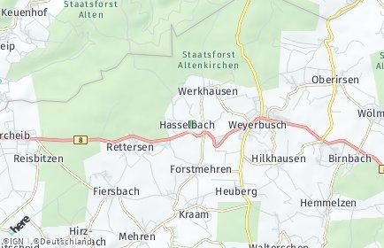 Stadtplan Hasselbach (Westerwald)