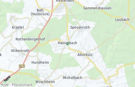Stadtplan Hasselbach (Hunsrück)