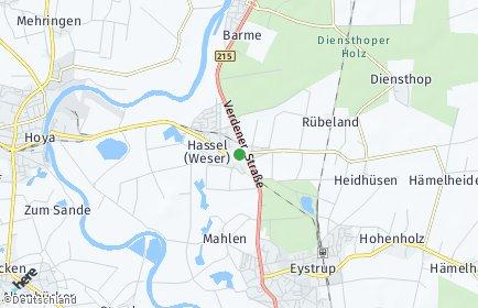 Stadtplan Hassel (Weser)