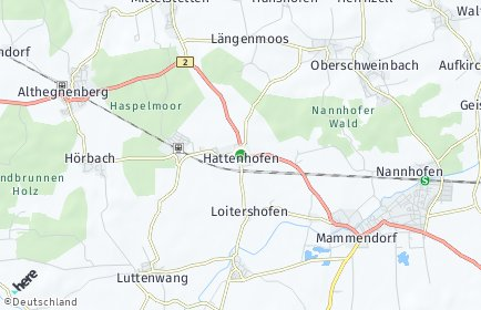 Stadtplan Hattenhofen (Bayern)