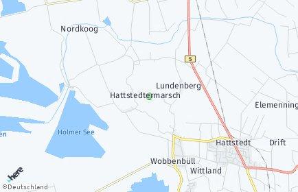 Stadtplan Hattstedtermarsch
