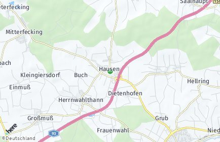 Stadtplan Hausen (Niederbayern)