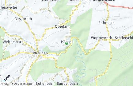 Stadtplan Hausen (Hunsrück)