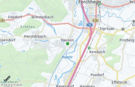 Stadtplan Hausen bei Forchheim