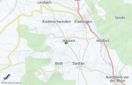 Stadtplan Hausen (Rhön)