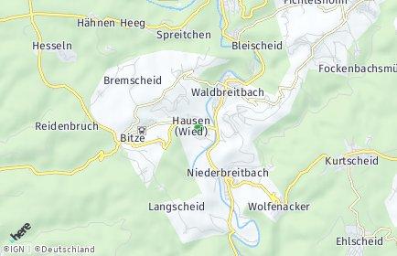 Stadtplan Hausen (Wied)