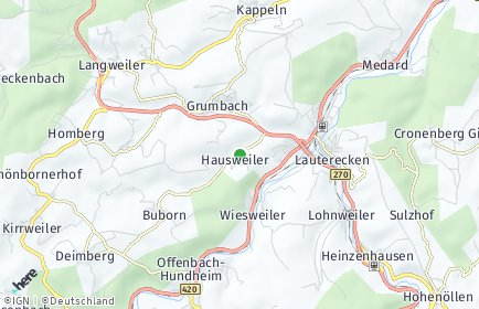 Stadtplan Hausweiler