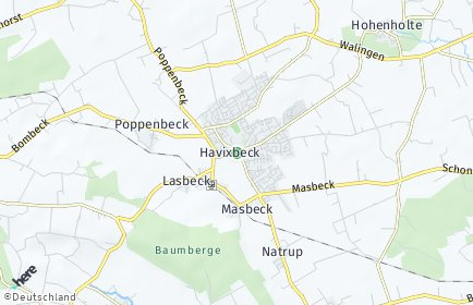 Stadtplan Havixbeck