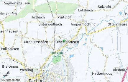 Stadtplan Hebertshausen