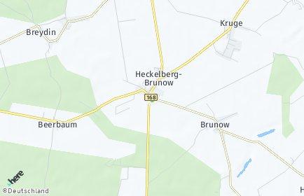 Stadtplan Heckelberg-Brunow