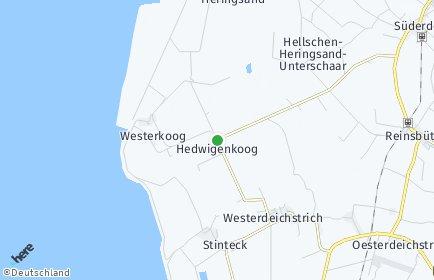 Stadtplan Hedwigenkoog