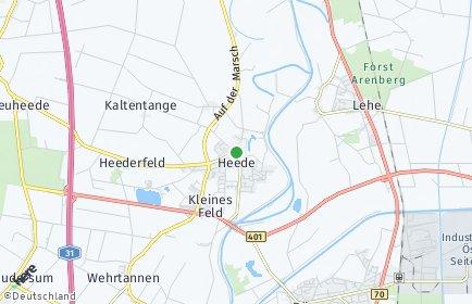 Stadtplan Heede (Emsland)