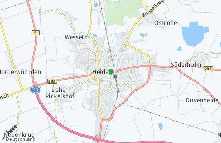Stadtplan Heide
